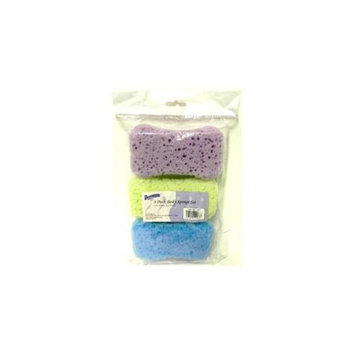 Bulk Buys 3 Pack Body Bath Sponge Set - Case of 36
