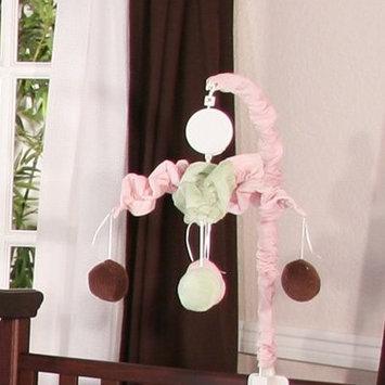 Brandee Danielle Minky Pink Chocolate Polka Dot Musical Mobile