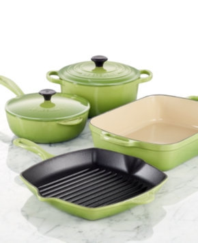 Le Creuset Signature 6-Piece Cookware Set Color: Palm