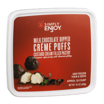 Ahold Simply Enjoy Creme Puffs Custard Cream Filled Pastry Milk Chocolate Dipped