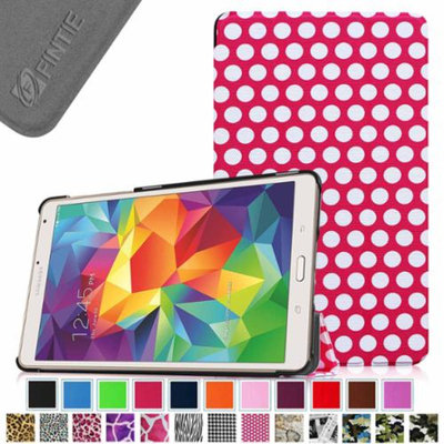 Fintie Ultra Slim Lightweight Stand Case Cove for Samsung Galaxy Tab S 8.4 (8.4-Inch) Tablet, Polka Dot Magenta