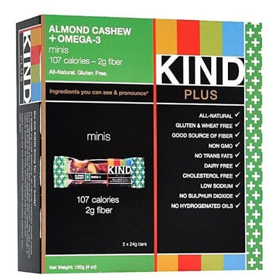 KIND PLUS mini Almond Cashew with Flax + Omega-3 Bars-5 pk