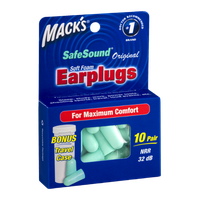 Mack's SafeSound Soft Foam Earplugs - 10 Pair