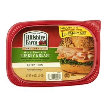 Hillshire Farm Deli Select Family Size Oven Roasted Turkey Breast Ultra Thin