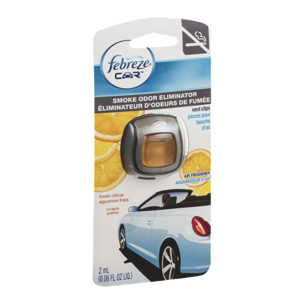 Febreze Car Vent Clips Air Freshener Odor Eliminator New: Smells BeGone - 15 Ounce Lavender Reviews