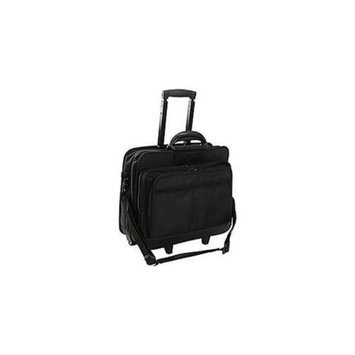 World Richman 8026-03 Rolling 17 Inch Laptop Briefcase - Black