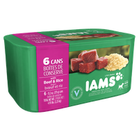 Iams ProActive Health Adult Ground Dinner with Beef & Rice Multi-Pack 6 Cans 79.2 Oz