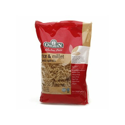 Orgran Stone Ground Rice & Millet Spiral Pasta