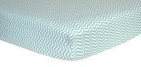 Trend Lab Mint Green & White Chevron Flannel Crib Sheet