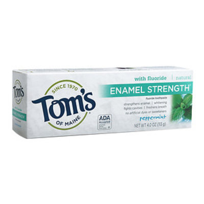 Tom's Of Maine Tom's of Maine - Natural Toothpaste Enamel Strength with Fluoride Peppermint - 4 oz.