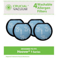 Crucial Vacuum 4 Hoover Windtunnel T-Series Washable Pre-Filters, Part