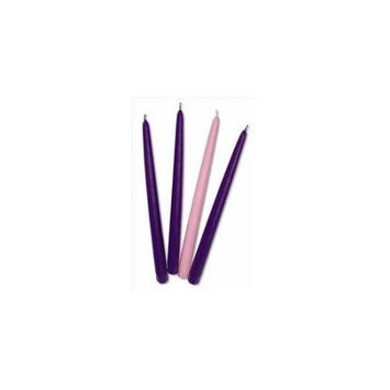 Will & Baumer 06040X Candle Advent Refill Tapers 0.87 x 12 3 Purple 1 Pink