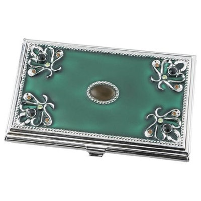 Visol Turquoise Green Business Card Holder For Women
