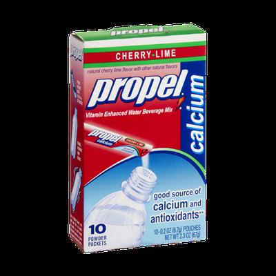 Propel Calcium Cherry-Lime Vitamin Enhanced Water Beverage Mix- 10 CT