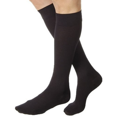 Jobst Relief 15-20 mmHg Closed Toe Knee High Unisex Support Sock Size: Small, Color: Black