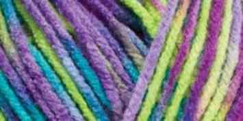 Hrl Red Heart Comfort Yarn-Apple/Purple/Jade Prints