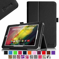 Fintie Folio Case Premium Vegan Leather Cover with Stylus Loop for HP 7 Plus (Model 1301) Android Tablet, Black