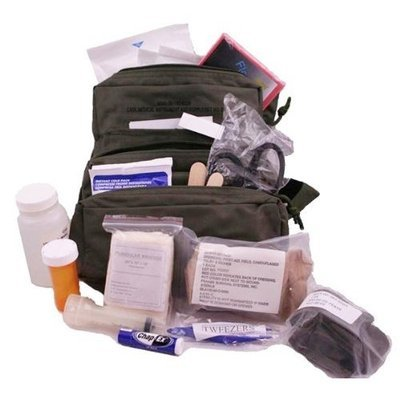 Elite First Aid Elite M.O.L.L.E. Straps Fully Stocked Medic First Aid Kit Bag