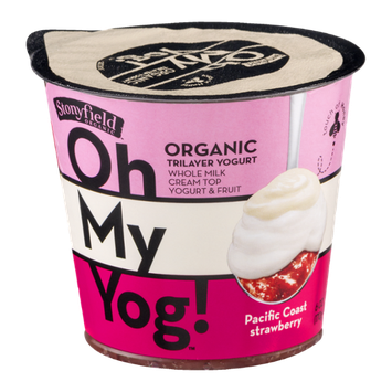 Stonyfield Organic Oh My Yog! Trilayer Yogurt Pacific Coast Strawberry