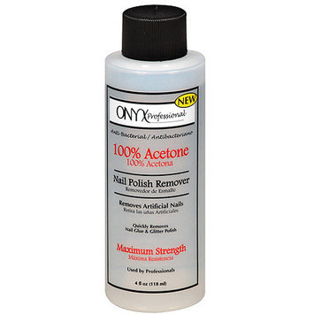 ONYX Professional 100% Acetone Nail Polish Remover, 4 fl oz