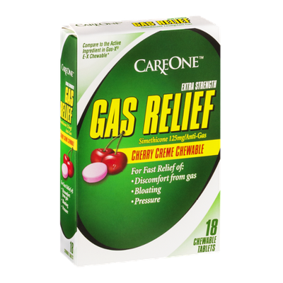CareOne Gas Relief Extra Strength Cherry Creme Chewable - 18 CT