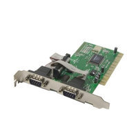 Syba PCI 32-Bit 2x Port Serial DB9 Card NM9835 Chipset Supports PCI IRQ sharing