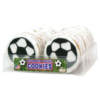 The Wild Baker Wild Baker Soccer Balls Decorated Cookies Tray (24 Cookies)