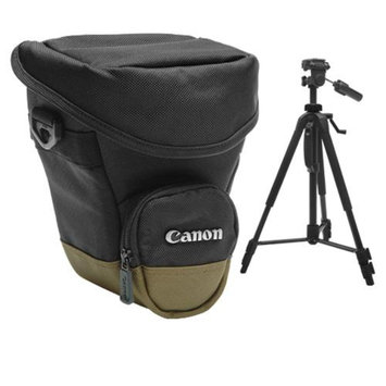 Canon Zoom Pack 1000 Holster Case + Tripod for EOS 7D, 5D, 60D, 50D, Rebel T3, T3i, T2i, T1i, XS Digital SLR Cameras