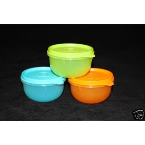 Tupperware Childrens Ideal Little Bowl Set of 3 New Colors