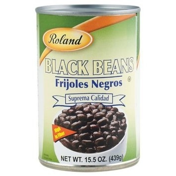 Roland Black Beans, 15.5-Ounce Cans (Pack of 24)