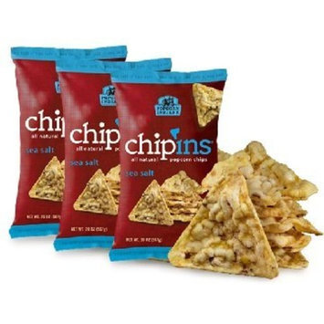 Popcorn Indiana Sea Salt Chip'ins Popcorn Chips 3 Pack