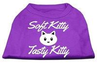 Ahi Softy Kitty Tasty Kitty Screen Print Dog Shirt Purple XXL (18)