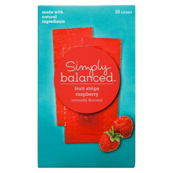 Simply Balanced Raspberry Fruit Strips 10 ct