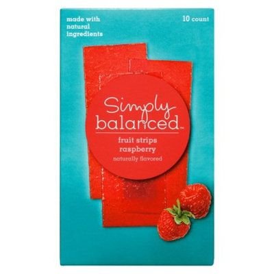 Simply Balanced Raspberry Fruit Strips 10 ct