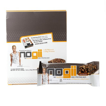 Nogii Gluten-Free High Protein Bar, Cocoa Brownie, 18 ea