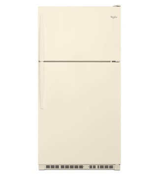 Whirlpool WRT311FZDT Top-Freezer Refrigerator with 20.5 Cu. Ft. Capacity 3 Framless Glass Shelves 2 Humidity-Controlled Crispers 3 Adjustable Gallon Door Bins and LED