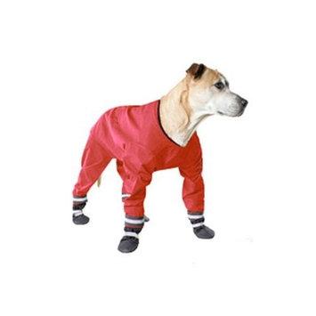 Muttluks 4-Legged Dog Jog Rain Suit, Size 12, Red
