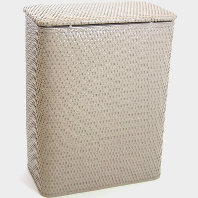 Redmon Chelsea Collection Decorator Color Wicker Hamper - Mocha
