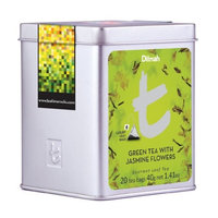 Dilmah Tea, Green Tea with Jasmine Flowers, 20-Count Luxury Leaf Teabags (Pack of 2)