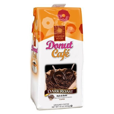 Copper Moon Donut Cafe Classic Ground Coffee, Dark Roast, 16-Ounce Bag
