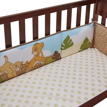 Crown Crafts Infant Products, Inc. Disney Baby 4-Piece Secure-Me Crib Bumper - The Lion King