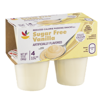 Ahold Pudding Snacks Sugar Free Vanilla - 4 CT