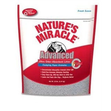 Natures Miracle Nature's Miracle Advanced Ultra Odor-Absorbent Clumping Paper Litter, 10-Pounds (P-5743)