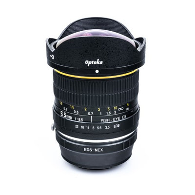 Opteka 6.5mm f/3.5 HD Aspherical Fisheye Lens with Removable Hood for Sony NEX E-Mount a7r, a7s, a7, a6000, a5100, a5000, a3000, NEX-7, NEX-6, NEX-5T, NEX-5N, NEX-5R and NEX-3N Digital Mirrorless Cameras