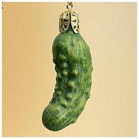 Roman Glass Pickle Christmas Tree Ornament