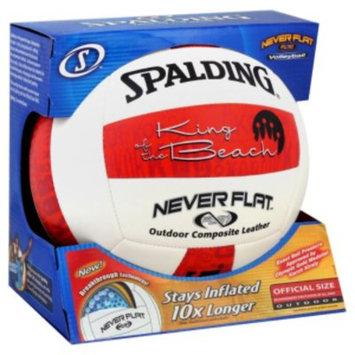 Spalding Sports Worldwide Spalding Volleyball, Never Flat, Outdoor, Official Size, 1 ball - SPALDING SPORTS WORLDWIDE