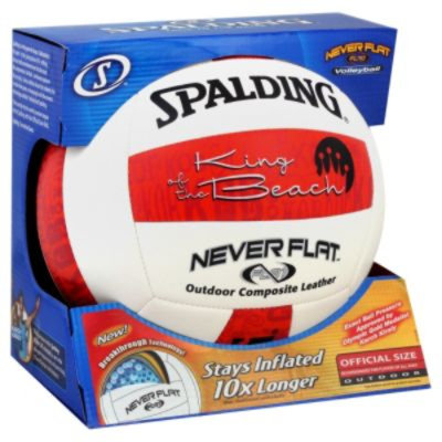 Spalding Sports Worldwide Spalding Volleyball, Never Flat, Outdoor, Official Size, 1 ball - SPALDING SPORTS WORLDWIDE