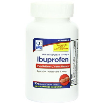 Quality Choice Ibuprofen 200mg. Tablet 500-Count Plastic Bottle