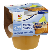 Ahold 2nd Stage Baby Food Orchard Blend & Sweet Potato - 2 CT