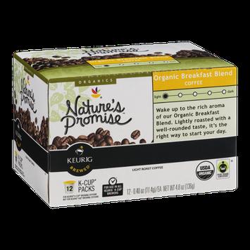 Nature's Promise Organics Organic Breakfast Blend Coffee K-Cup Packs Light Roast - 12 CT